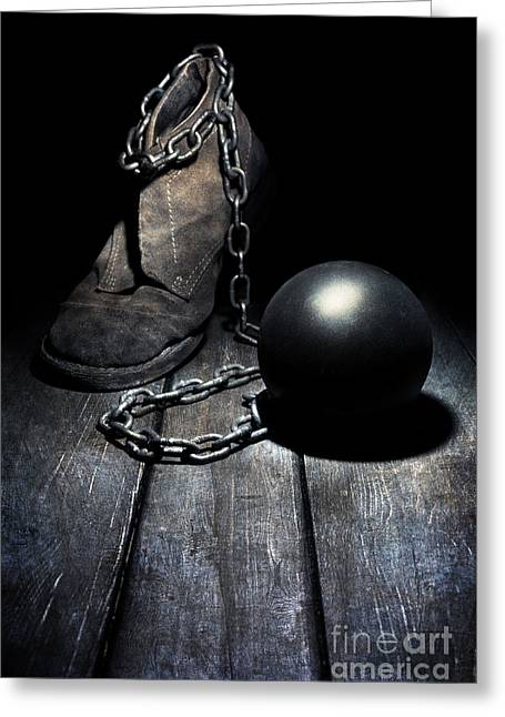 Slaves Photographs Greeting Cards - Unwanted attachment Greeting Card by Jaroslaw Blaminsky