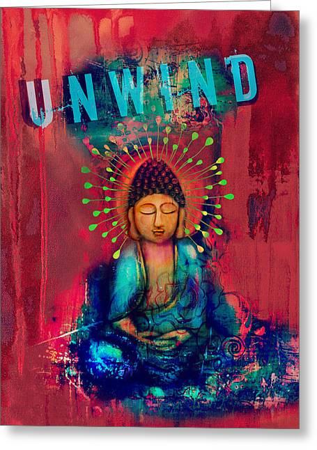 Unwind Greeting Card by Tara Catalano