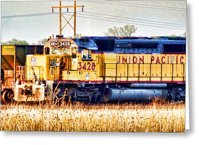 Division Greeting Cards - UP 3428 RCL Locomotive in color Greeting Card by Bill Kesler