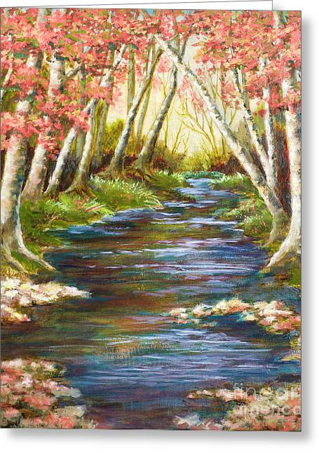 Mo Artist Paintings Greeting Cards - Up a Creek Greeting Card by Vic  Mastis