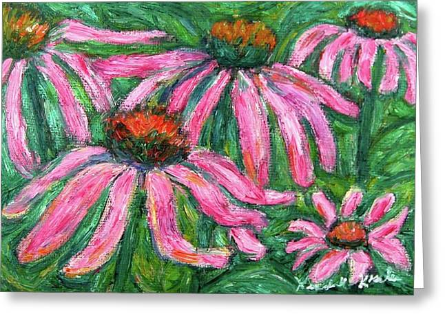 Impressionist Greeting Cards - Up Close and Magenta Greeting Card by Kendall Kessler