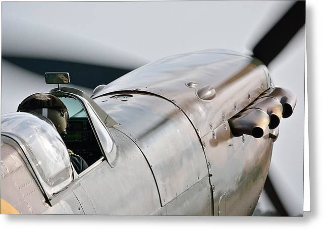 Spitfire Greeting Cards - Up Close  Greeting Card by Jason Green
