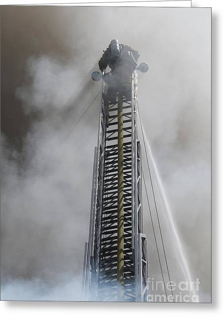 Up In Smoke Greeting Card by Dan Holm