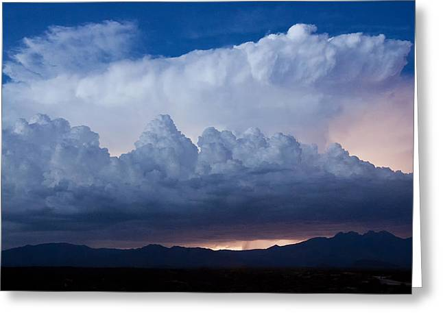 Arizona Lightning Greeting Cards - Up in the Clouds  Greeting Card by Saija  Lehtonen