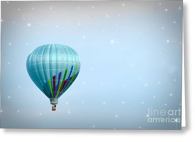 Above Greeting Cards - Up Greeting Card by Juli Scalzi