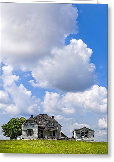 Up On Memory Hill - Rural Georgia Greeting Card by Mark E Tisdale