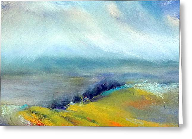 Windy Pastels Greeting Cards - Up On The Edge  Greeting Card by Sue Gardner