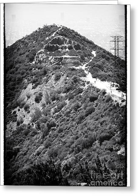 California Contemporary Gallery Greeting Cards - Up Runyon Canyon Greeting Card by John Rizzuto