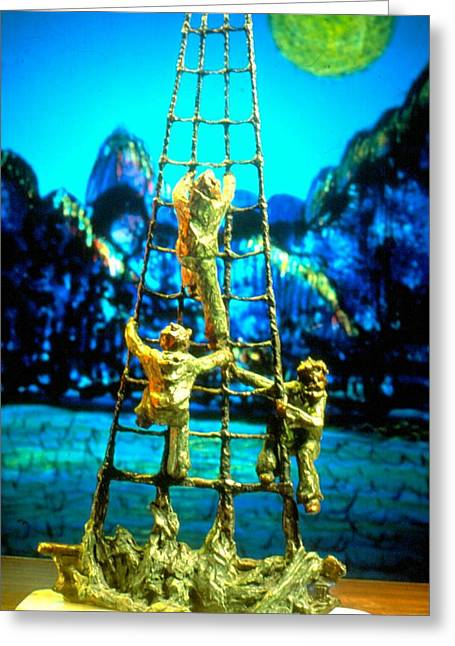 Tall Sculptures Greeting Cards - Up the Ratlines Greeting Card by William Osmundsen