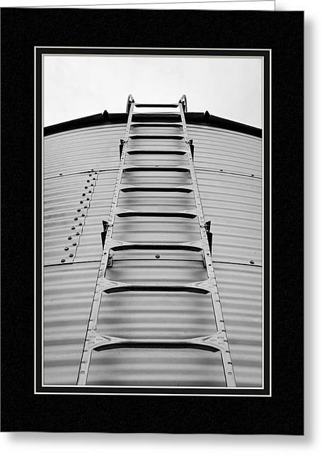 Matting Greeting Cards - Up The Silo We Go Greeting Card by Charles Feagans