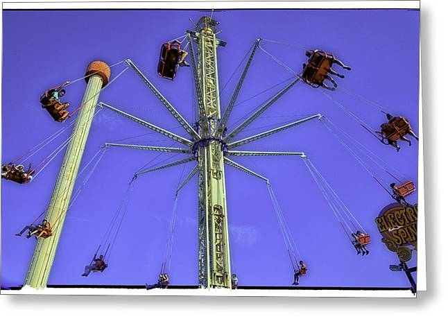 Luna Photographs Greeting Cards - Up Up and Away 2013 - Coney Island - Brooklyn - New York Greeting Card by Madeline Ellis