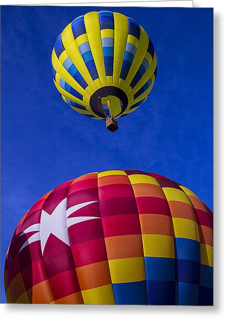 Ballooning Greeting Cards - Up Up And Away Greeting Card by Garry Gay