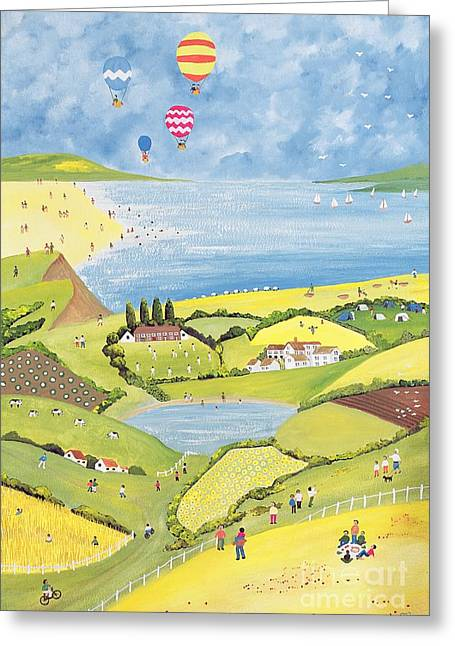 Cricketers Greeting Cards - Up up and away  Greeting Card by Judy Joel