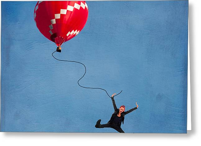 Above Greeting Cards - Up up and away Greeting Card by Juli Scalzi