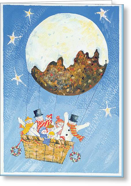 Up, Up And Away  Greeting Card by David Cooke
