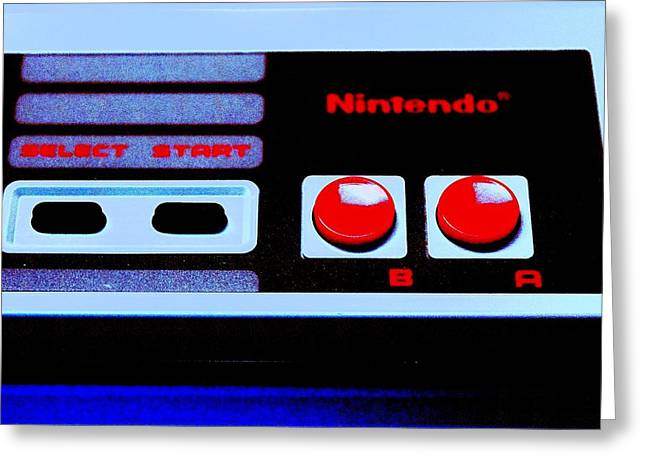 Vintage Nintendo Game Greeting Cards - Up Up Down Down Greeting Card by Benjamin Yeager