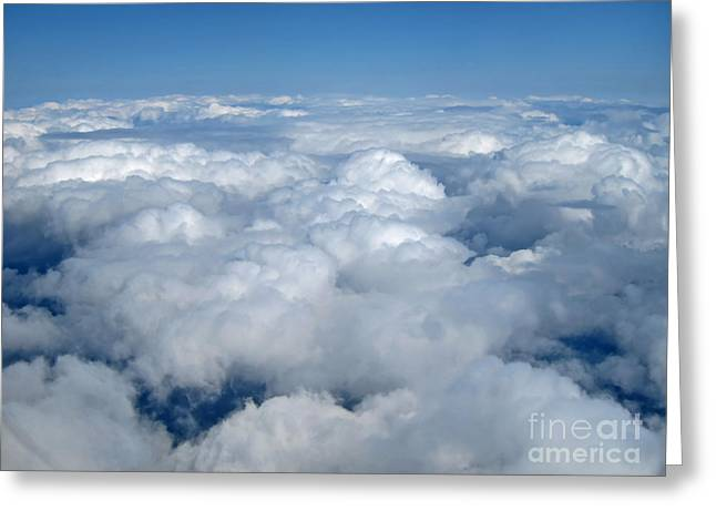 Up Up In The Sky Greeting Card by Valerie Garner