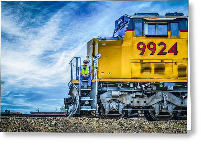 Union Pacific Greeting Cards - Up9924 Greeting Card by Jim Thompson