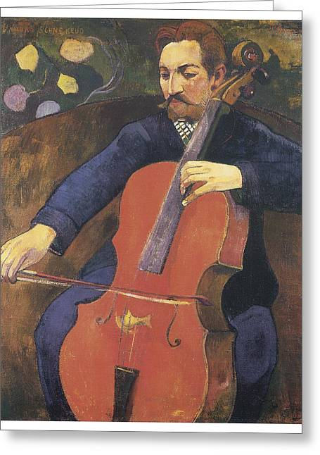 Playing Musical Instruments Greeting Cards - Upaupa Schneklud Greeting Card by Paul Gauguin