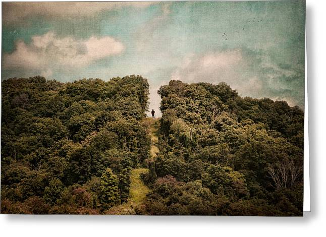 The Hills Greeting Cards - Uphill Climb Greeting Card by Jai Johnson
