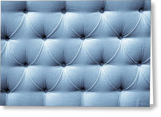 Boutique Design Greeting Cards - Upholstery background Greeting Card by Tom Gowanlock