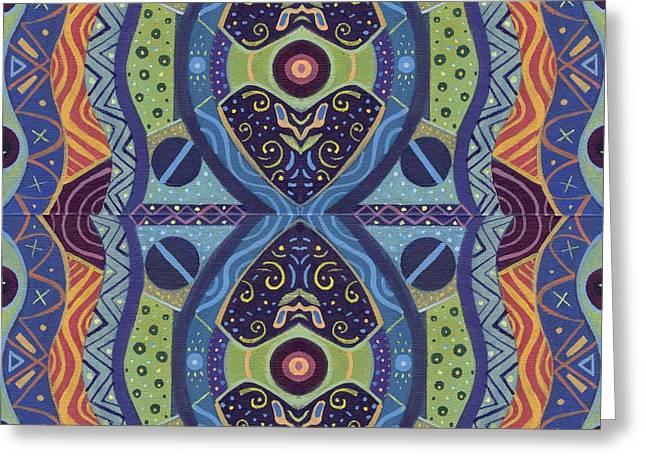 Uplifted 1 - The Joy Of Design X X I I I Arrangement Greeting Card by Helena Tiainen