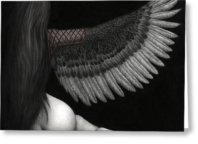 Goth Greeting Cards - Upon Ashen Wings Greeting Card by Pat Erickson