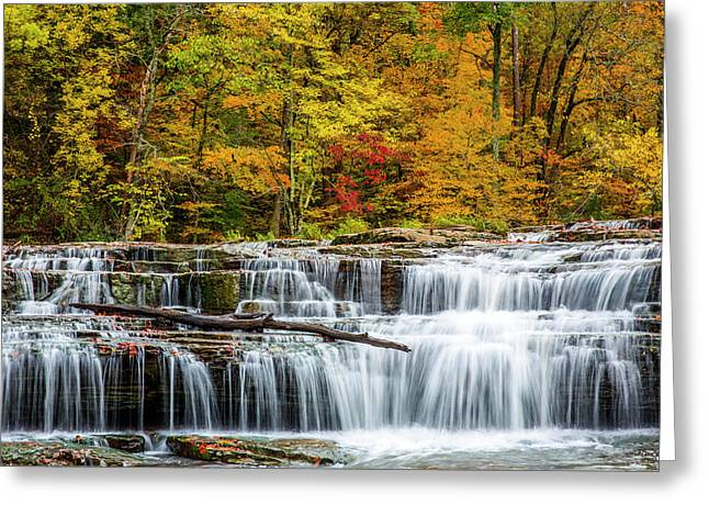 Upper Cataract Falls On Mill Creek Greeting Card by Chuck Haney