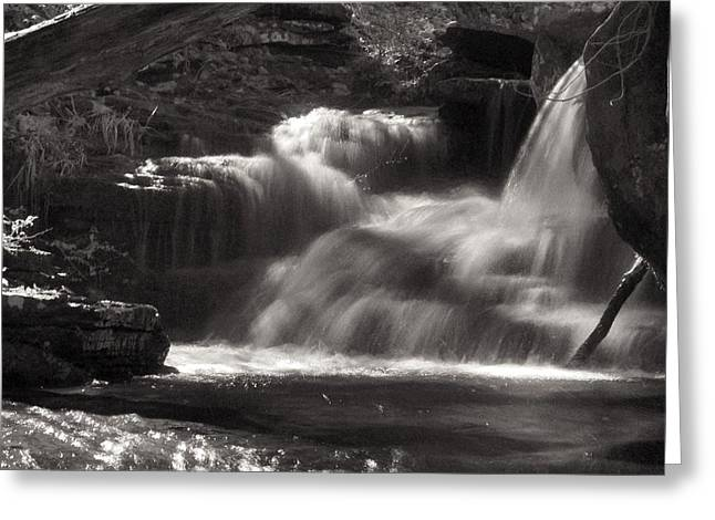 Heber Springs Greeting Cards - Upper Cornelius Falls  Greeting Card by Gretchen  Friedrich