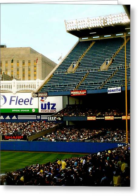 The Pyrography Greeting Cards - Upper Deck  The Yankee Stadium Greeting Card by Iconic Images Art Gallery David Pucciarelli