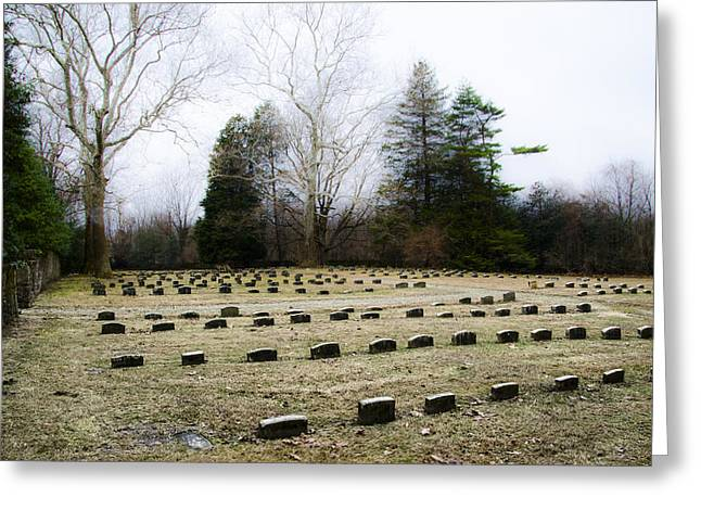 Quakers Digital Art Greeting Cards - Upper Dublin Freinds Meetinghouse Burial Ground Greeting Card by Bill Cannon
