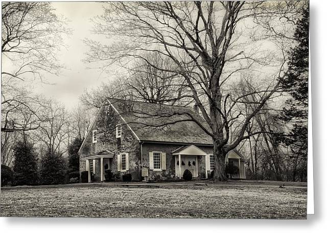 Upper Dublin Meetinghouse in Sepia Greeting Card by Bill Cannon