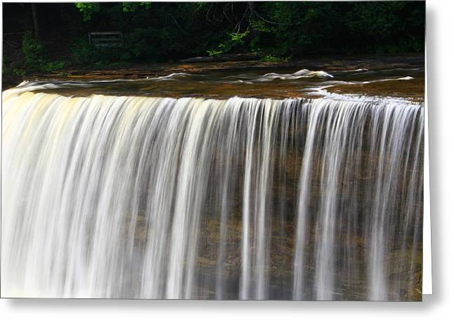 Newberry Greeting Cards - Upper Falls At Tahquamenon Falls State Park Greeting Card by Dan Sproul