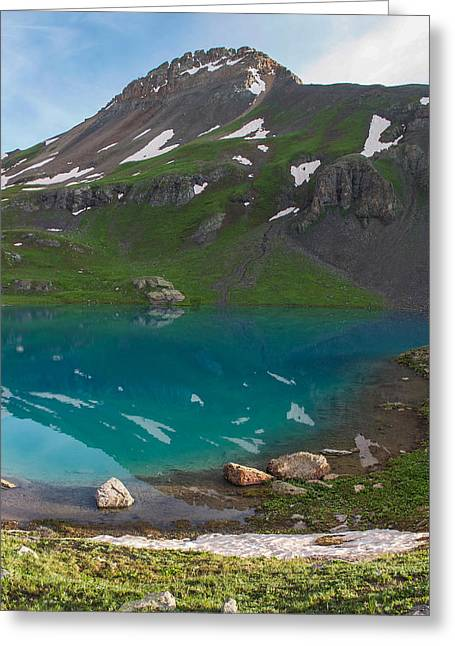 """high Peaks"" Greeting Cards - Upper Ice Lake Greeting Card by Aaron Spong"