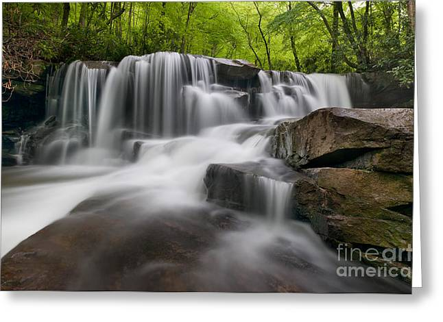 Waterfall Greeting Cards - Upper Jonathan Run Falls D300_16557 Greeting Card by Kevin Funk