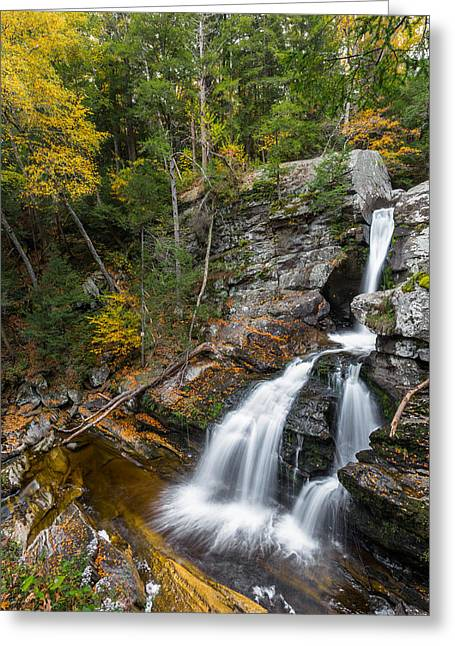 Kent Greeting Cards - Upper Kent Falls Autumn Greeting Card by Bill  Wakeley