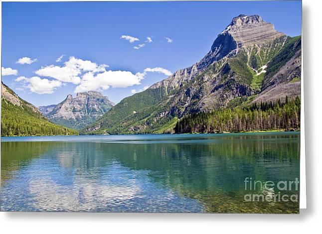 Kintla Lake Greeting Cards - Upper Kintla Lake Colours Greeting Card by Scotts Scapes