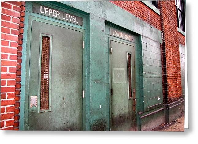 Red Soxs Greeting Cards - Upper Level Greeting Card by Michelle Wiltz