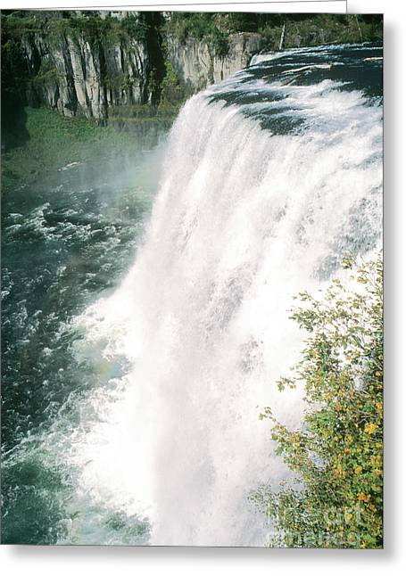 North Fork Greeting Cards - Upper Mesa Falls, Idaho Greeting Card by William H. Mullins