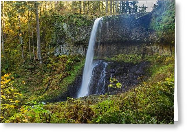 Equipment Pyrography Greeting Cards - Upper North Falls Greeting Card by Scott Sutton