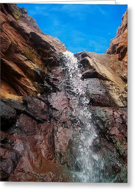 Upper Portion Dorothy Falls Greeting Card by Chris Flees