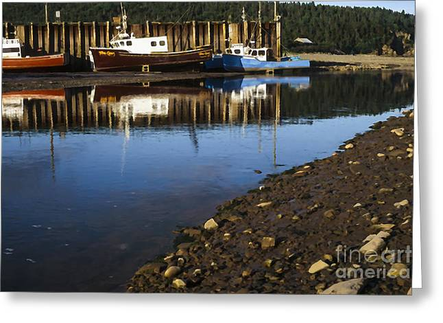 Maine Shore Greeting Cards - Upper Salmon River Greeting Card by Thomas R Fletcher