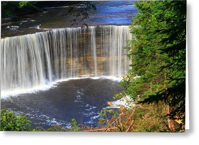 Newberry Greeting Cards - Upper Tahquamenon Falls Greeting Card by Dan Sproul