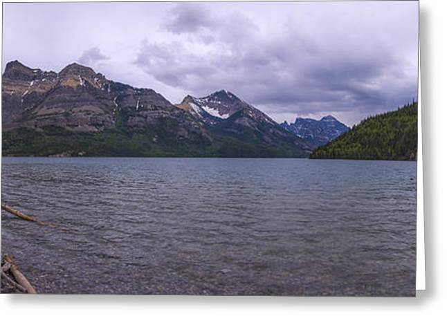 Glacier Greeting Cards - Upper Waterton Lake Greeting Card by Chad Dutson