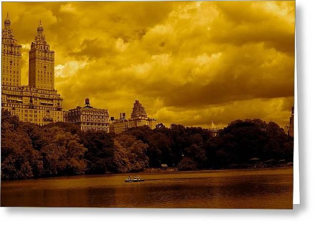 Central Park West Greeting Cards - Upper West Side and Central Park Greeting Card by Monique Wegmueller