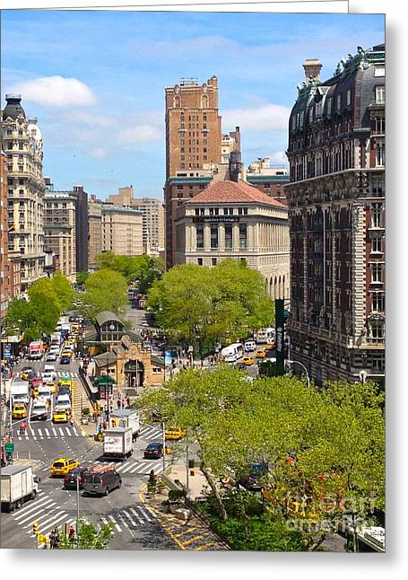 Crosswalk Greeting Cards - Upper West Side Greeting Card by Beth Saffer