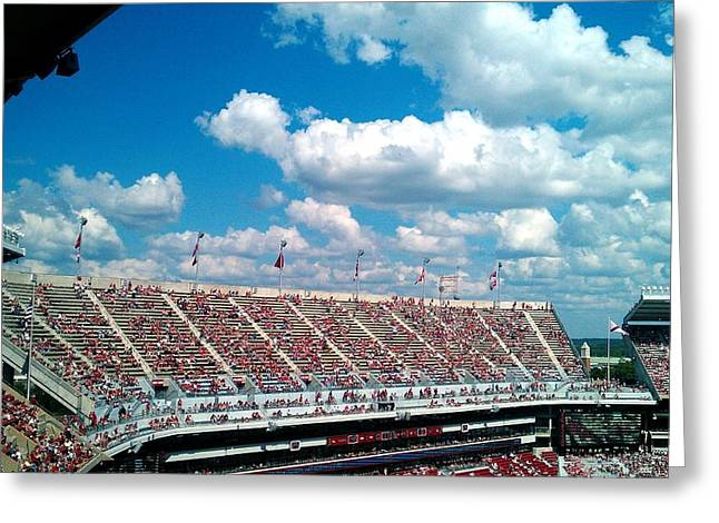 University Of Alabama Greeting Cards - Upperdeck Panorama Greeting Card by Kenny Glover