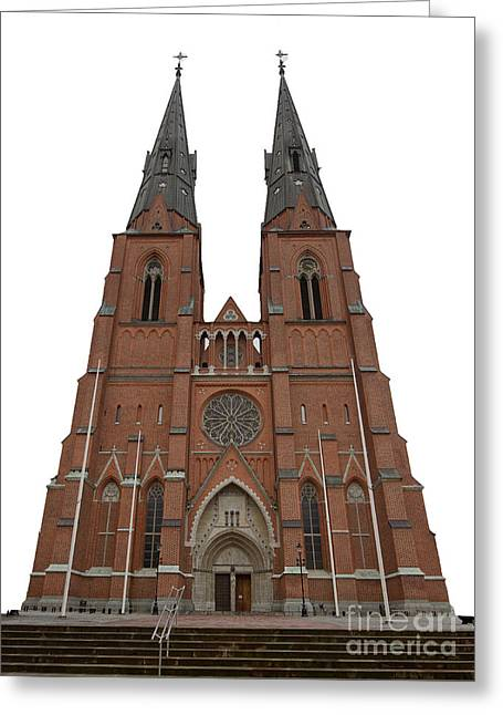 Catherine Window Greeting Cards - Uppsala Cathedral Greeting Card by Torbjorn Swenelius