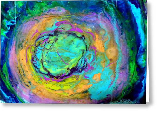 Contemporary Greeting Cards - Uprising II Greeting Card by Jane Biven