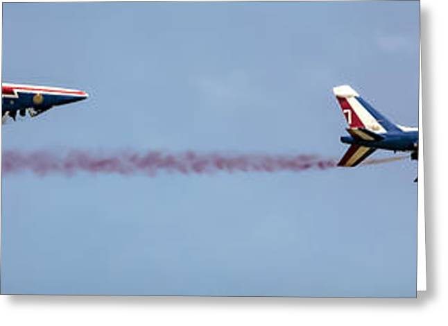 Fighter Jet Greeting Cards - Upside Down Greeting Card by Martin Newman